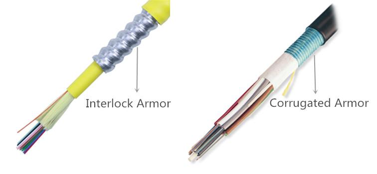 interlock armored fiber cable vs corrugated armored cable