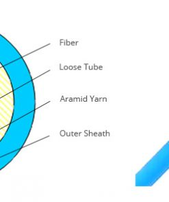 4-6-8-12 Core Loose Tube Indoor Outdoor Fiber Optic Cable