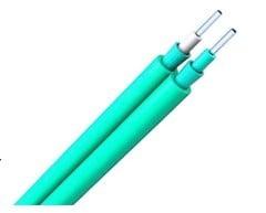 Corning Fiber 10G OM4 50/125μm Multimode Duplex Zipcord Tight Buffer Plenum Indoor Fiber Optic Cable