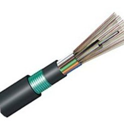 24 Cores 62.5/125μm OM1 Multimode Armor Double Jackets Stranded Loose Tube FRP Strength Member Waterproof Outdoor Cable-GYFTY53
