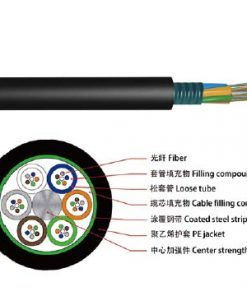 GYTS Fiber Optic Cable is the outdoor fiber optic cable type used for duct and aerial applications Structure