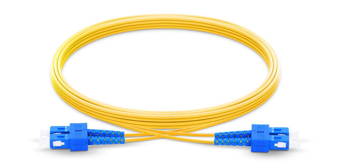 SC To SC UPC Duplex Single Mode OS2 9/125 Fiber Patch Cord