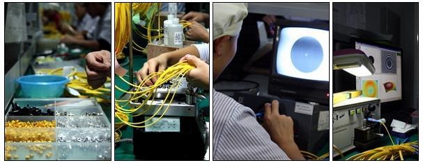 Production Process Fiber Patch Cord or Fiber Optic Patch Cable or Fiber Optic jumper cables