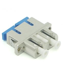 LC to SC Adapter Female to Female Duplex Metal Fiber Optic Hybrid Adapter