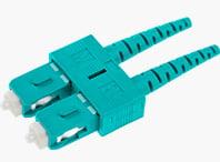 SC Duplex Connector 2.0mm Aqua