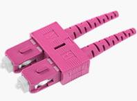 SC Duplex Connector 2.0mm Violet