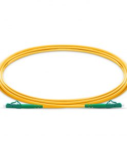 LC To LC APC Simplex Single Mode OS2 9 125 Fiber Patch Cable