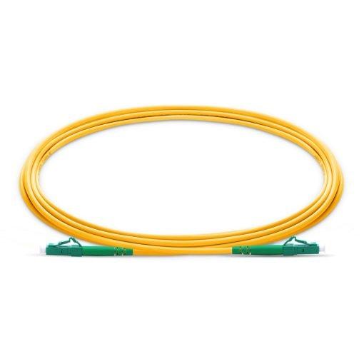 LC To LC APC Simplex Single Mode OS2 9 125 Fiber Patch Cable