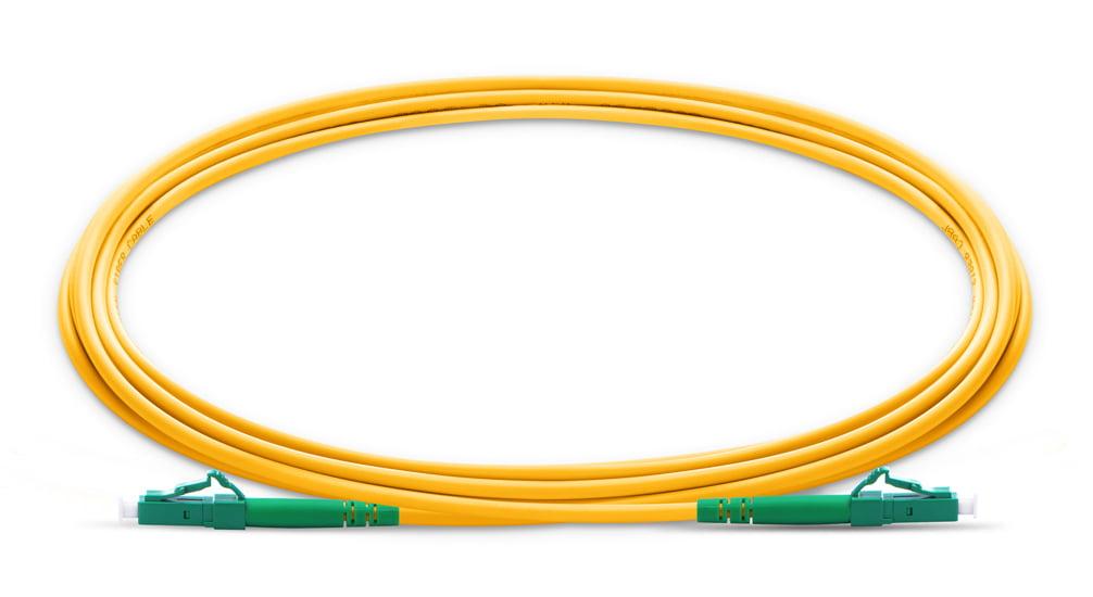 LC To LC APC Simplex Single Mode OS2 9 125 Fiber Patch Cord