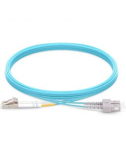LC To SC UPC Duplex Multimode OM4 50 125 Fiber Patch Cable