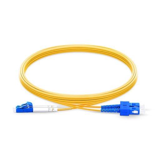 LC To SC UPC Duplex Single Mode OS2 9 125 Fiber Optic Patch Cord