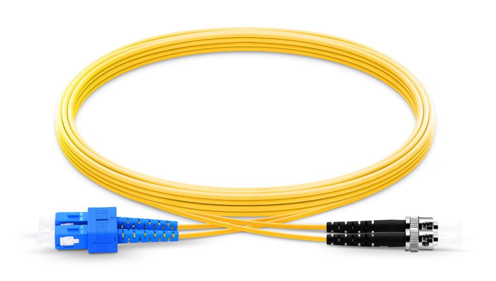 SC To ST UPC Duplex Single Mode OS2 9 125 Fiber Patch Cord