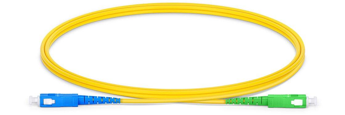 SC UPC To SC APC Simplex Single Mode OS2 9/125 Fiber Patch Cord