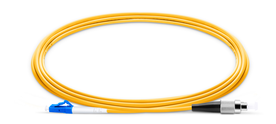 LC To FC UPC Simplex Single Mode OS2 9/125 Fiber Patch Cord
