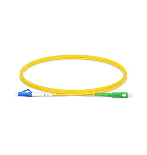 LC UPC To SC APC Simplex Single Mode OS2 9 125 Fiber Patch Cord