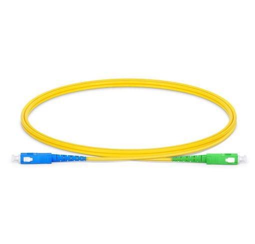 SC UPC To SC APC Simplex Single Mode OS2 9 125 Fiber Patch Cord