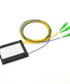 1X2 ABS Box Type Fiber Optic PLC Splitter 2.0mm SC APC