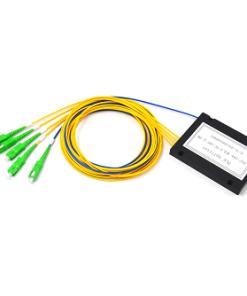 1X4 Fiber Optic PLC Splitter ABS Module 2.0mm SC APC