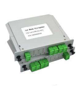 1X4 LGX Cassette Type Fiber Optic Splitter.