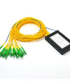 1X16 Fiber Optic PLC Splitter ABS Module With LC/APC Connector