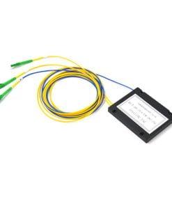 1X2 ABS Box Type Fiber Optic PLC Splitter 2.0mm LC APC