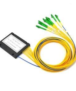1X8 Fiber Optic PLC Splitter ABS Module With SC/APC Connector