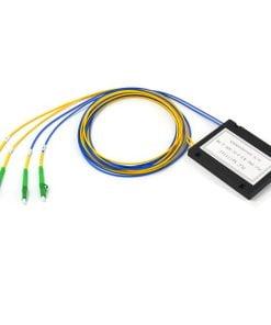 2x2 ABS Module Cassette Type Fiber Optic PLC Splitter For FTTH
