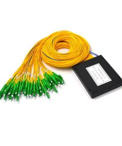 2x64 Fiber Optic PLC Splitter ABS Module 2.0mm With SC/APC Connector