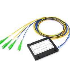 2x2 ABS Module Cassette Type Fiber Optic PLC Splitter For FTTH SC/APC
