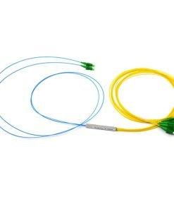 2x8 Fiber Optic Splitter With Steel Tube,0.9mm With G657A Fiber