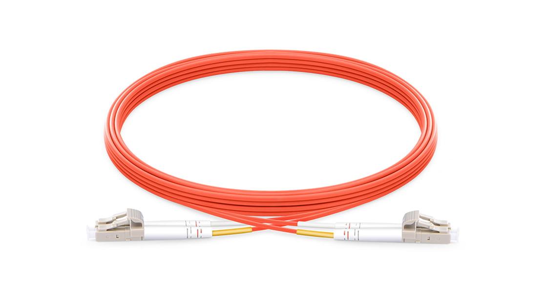 LC To LC UPC Duplex Multimode OM1 62.5/125 Fiber Patch Cord