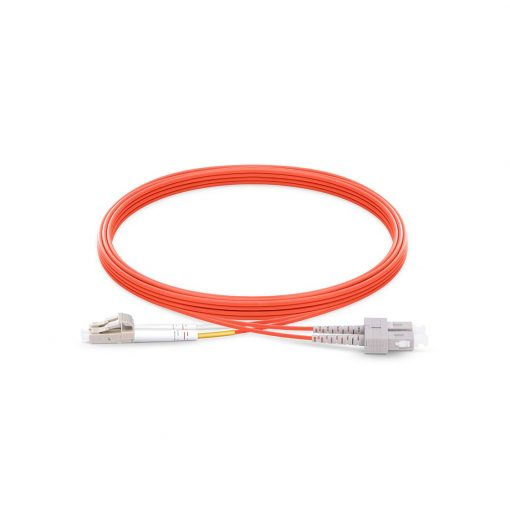 LC To SC UPC Duplex Multimode OM2 50/125 Fiber Patch Cord