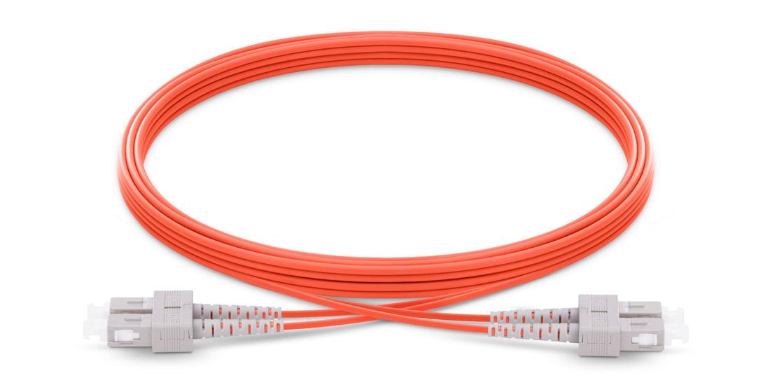 SC To SC UPC Duplex Multimode OM1 62.5/125 Fiber Patch Cord
