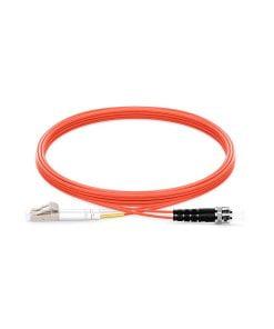 SC To ST UPC Duplex Multimode OM1 62.5/125 Fiber Patch Cord