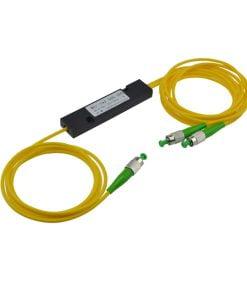 1X2 Singlemode Dual Window FBT Coupler With FC/APC Connector,3.0Mm ABS Module