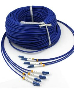 4Core LC/UPC-LC/UPC Singlemode 9/125 Fiber Optic Armored Patch Cables
