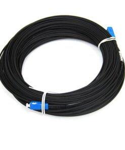 SC/UPC Singlemode Simplex LSZH FTTH Black Bow Type Drop Patch Cable