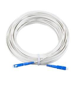 SC/UPC Singlemode Simplex LSZH FTTH White Drop Patch Cable