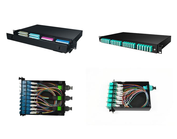 MPO/MTP fiber optic patch panels